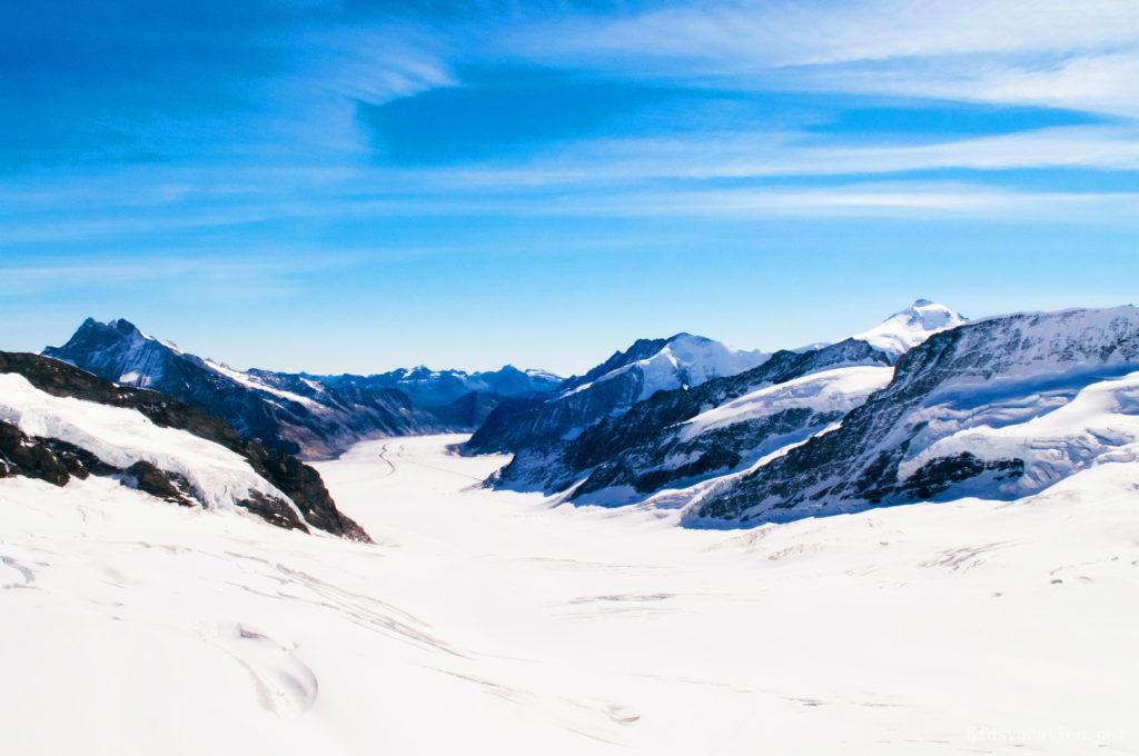 アレッチ氷河の眺め
