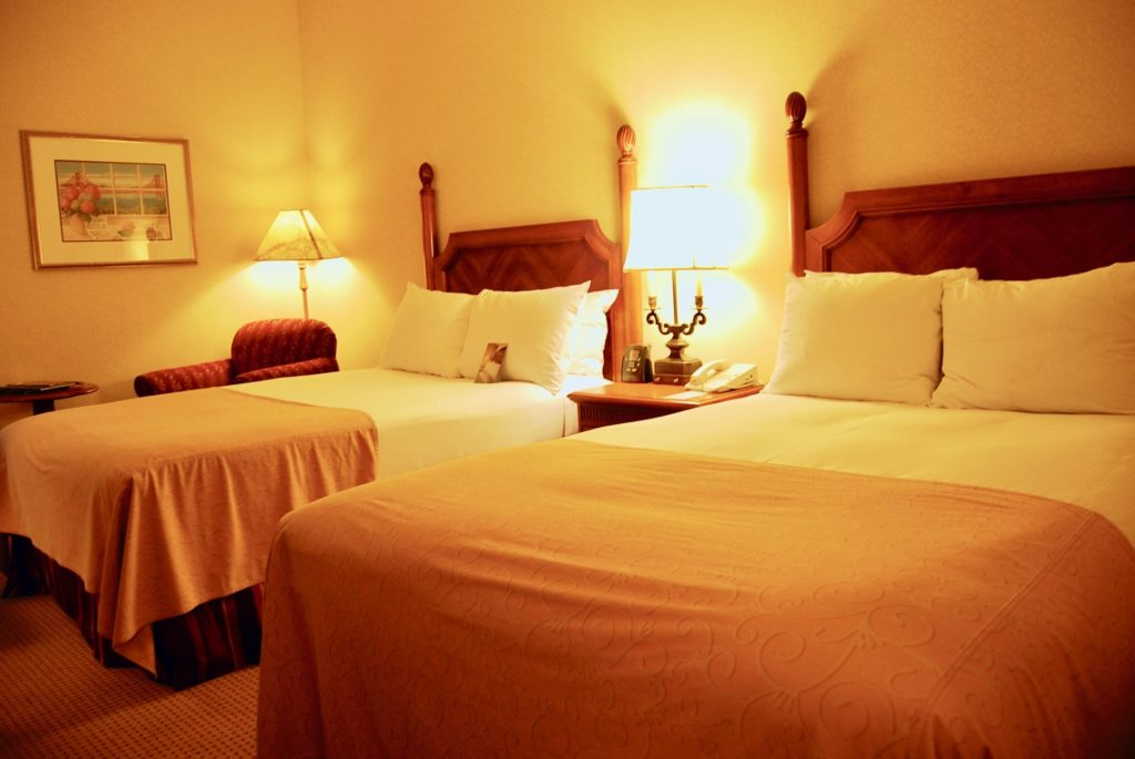 サンフランシスコヒルトンユニオンスクエアのベッドルーム