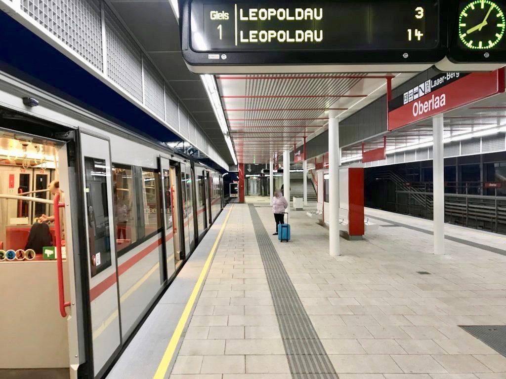 ウィーン地下鉄のホーム