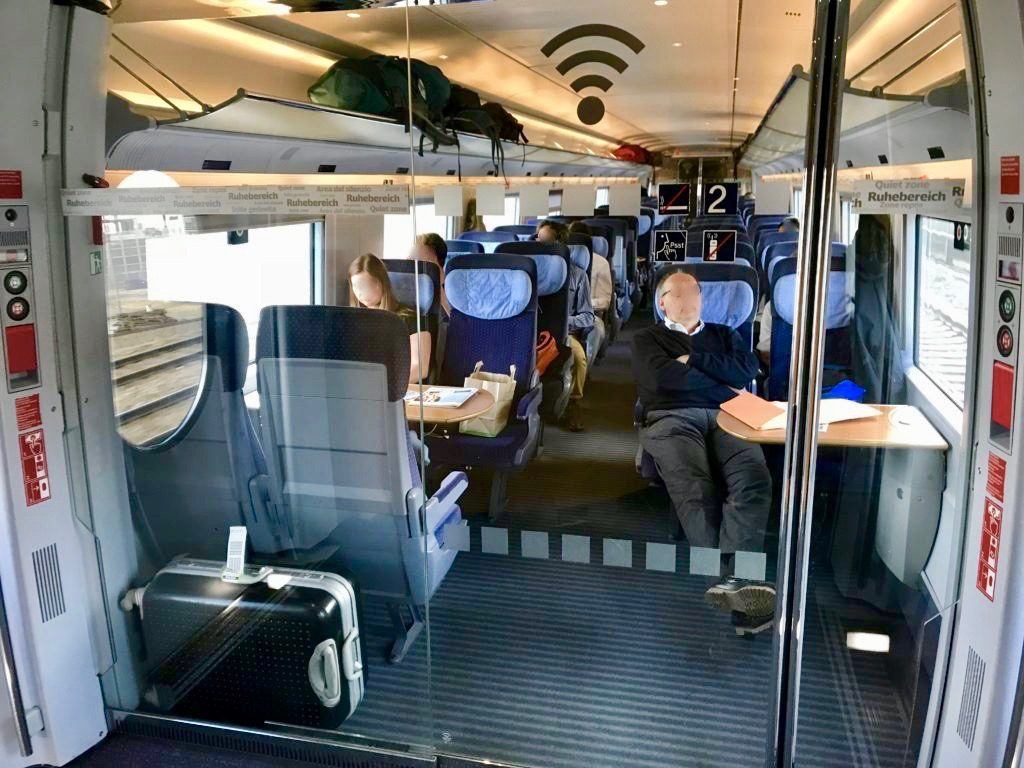 ヨーロッパの列車の指定席