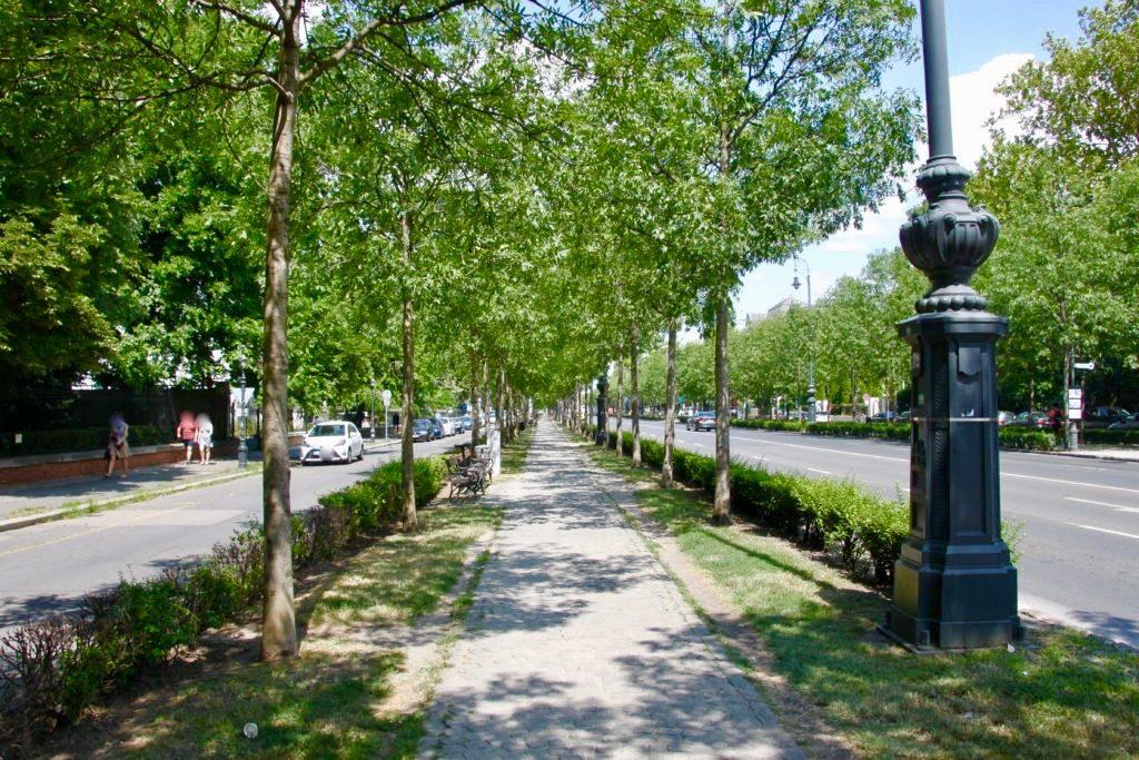 アンドラーシ通りの並木道