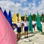 中学校の体育祭の開会式
