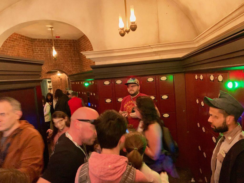 ハリーポッターとグリンゴッツからの脱出のロッカールーム