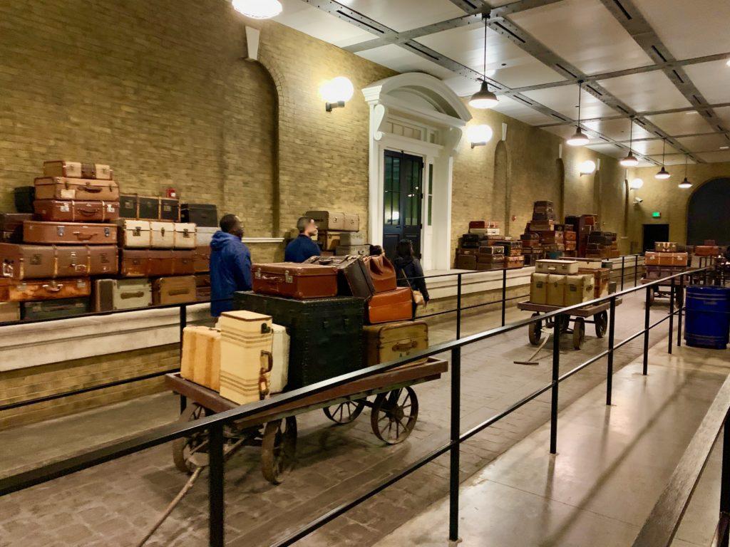 キングスクロス駅の荷物レーン