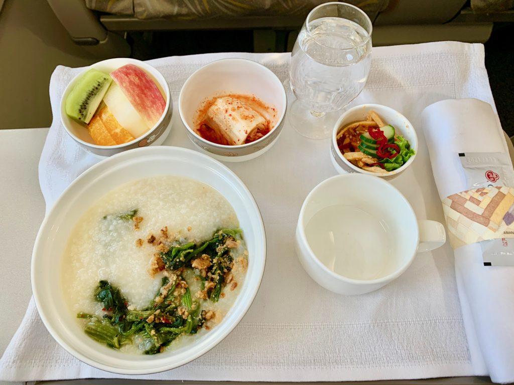 韓国料理の機内食