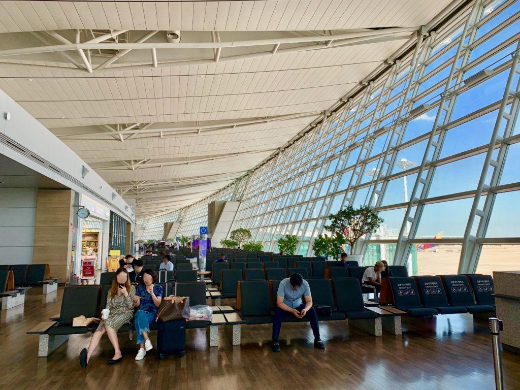 仁川空港の搭乗待合ロビー