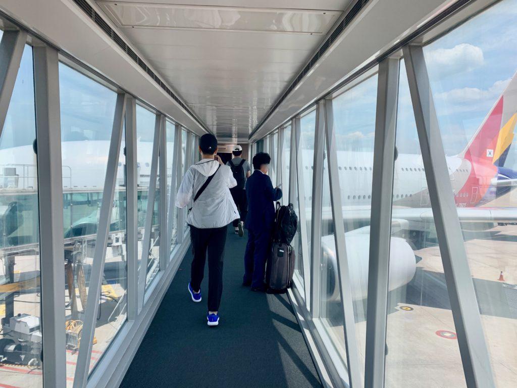 アシアナ航空フランクフルト線に搭乗する