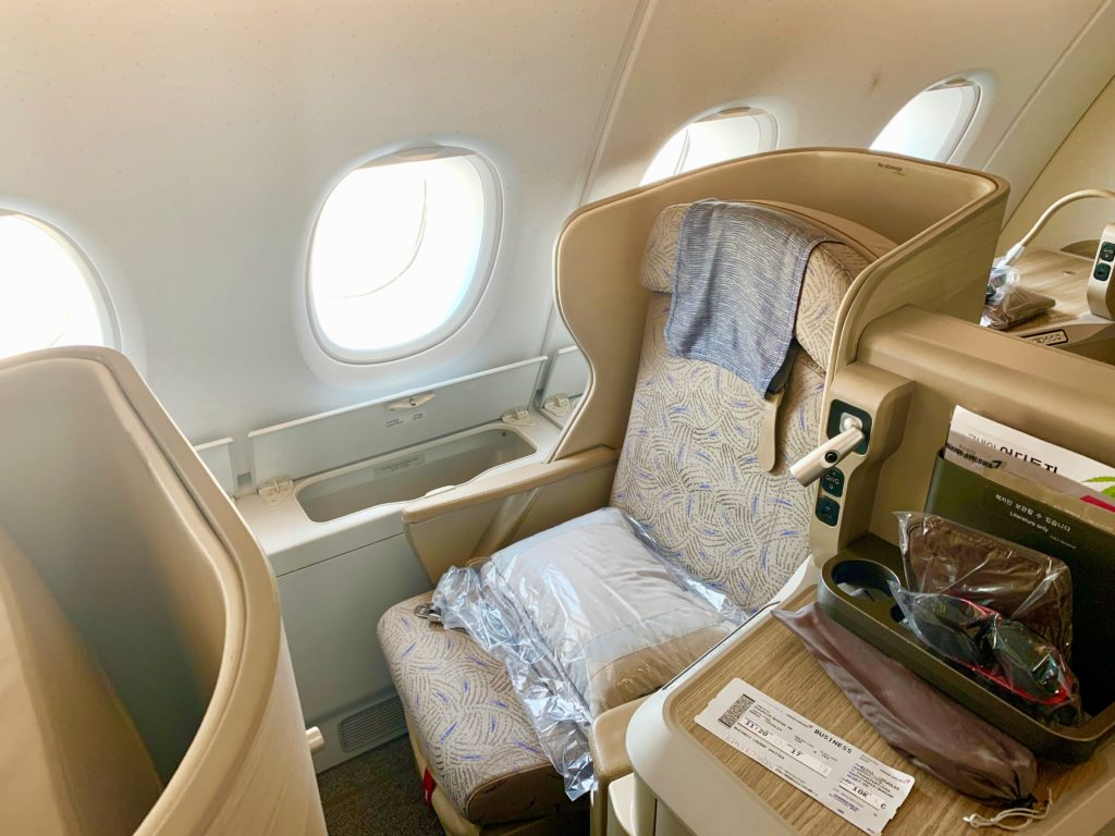 アシアナ航空フランクフルト線のビジネスクラス