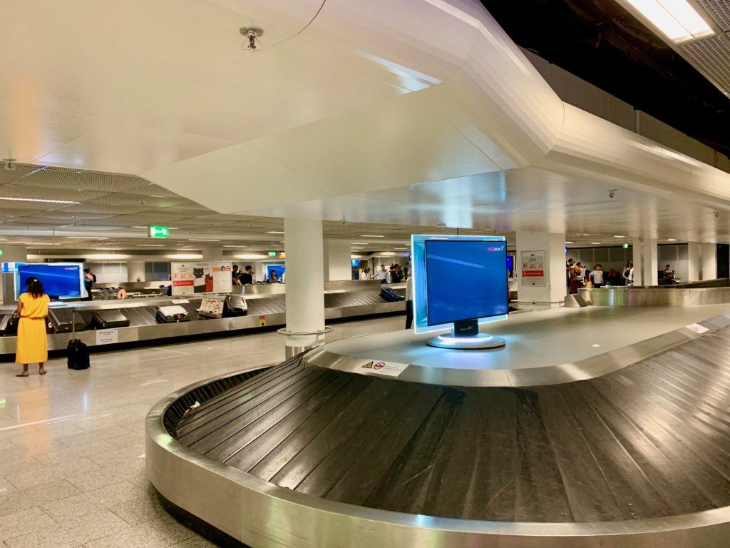 フランクフルト空港のバゲージクレーム
