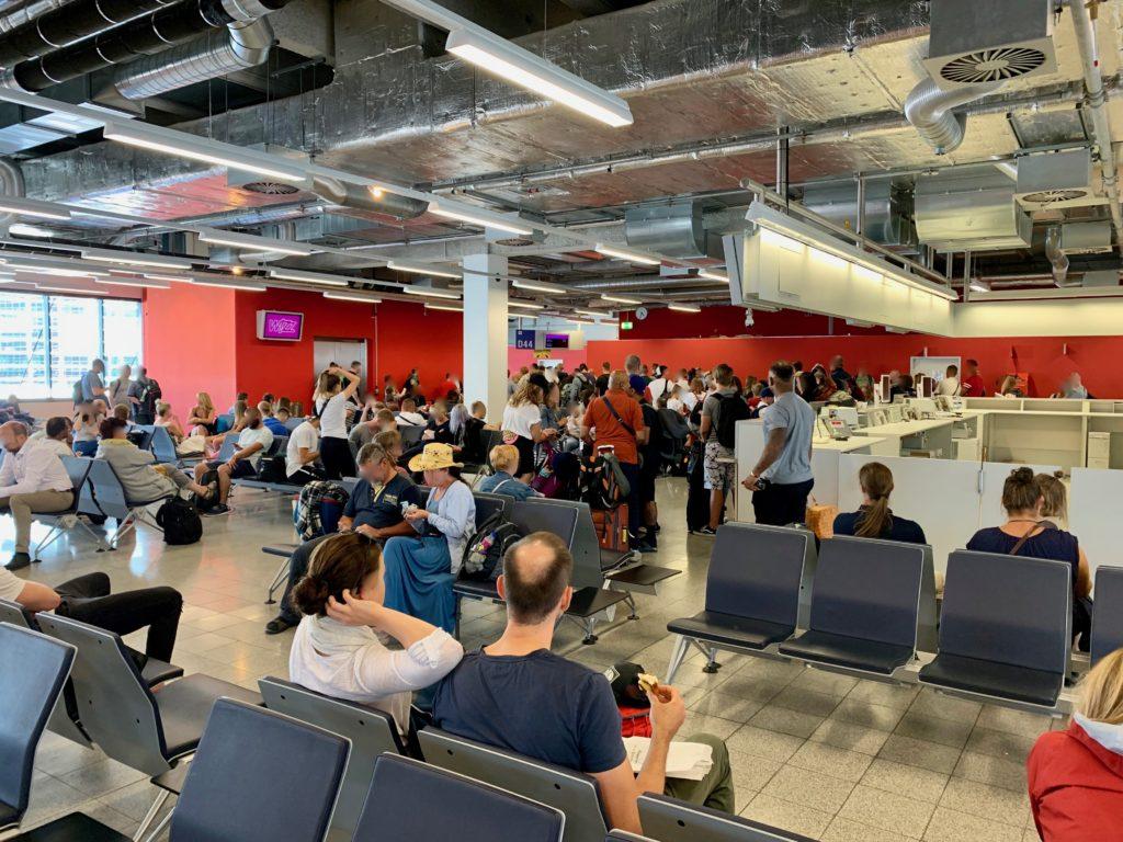 フランクフルト空港ターミナル2の出発ロビー