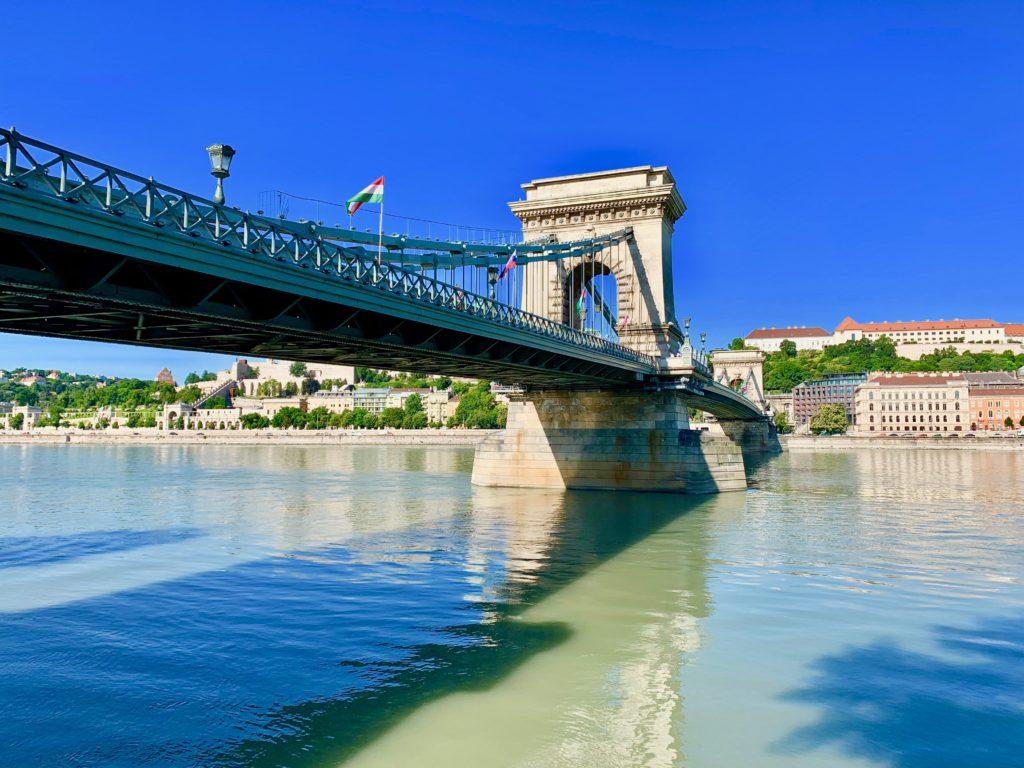 ブダペストのドナウ川と鎖橋