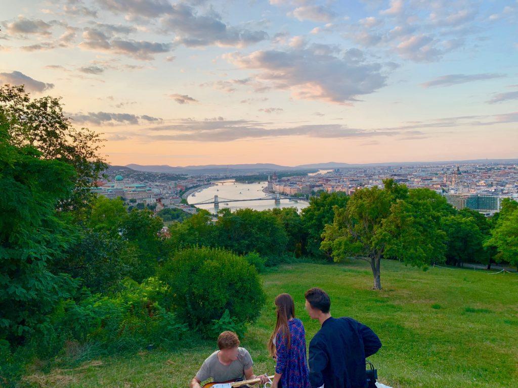 ゲッレールトの丘からの眺め