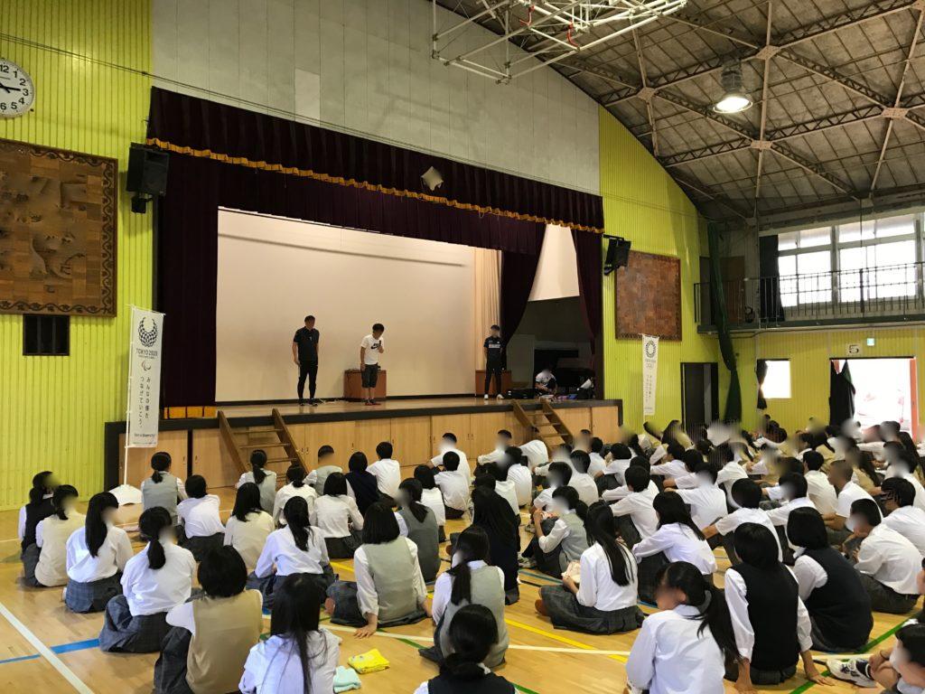 中学校PTA総会が行われる体育館