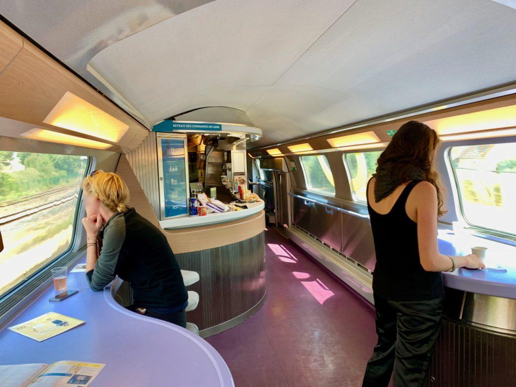 ヨーロッパの鉄道の食堂車