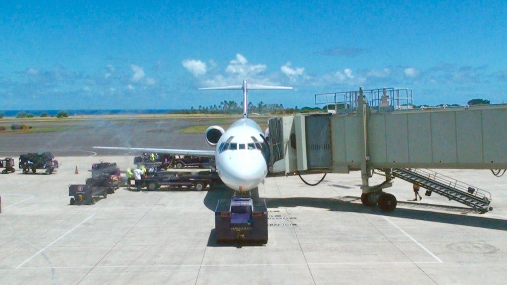 カウアイ島リフェ空港の滑走路