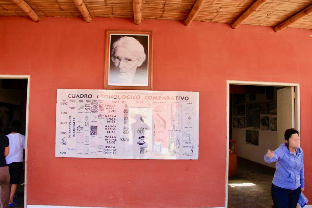 マリアライヘ博物館の入り口の赤い壁にかかっている肖像写真