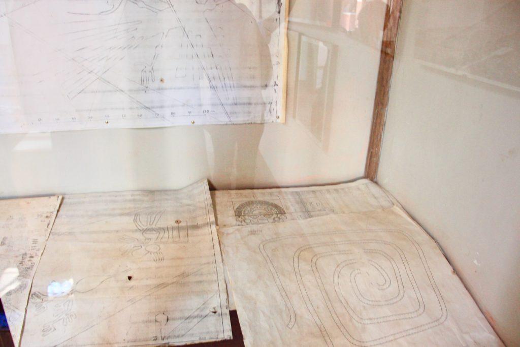 研究用メモやノートの展示