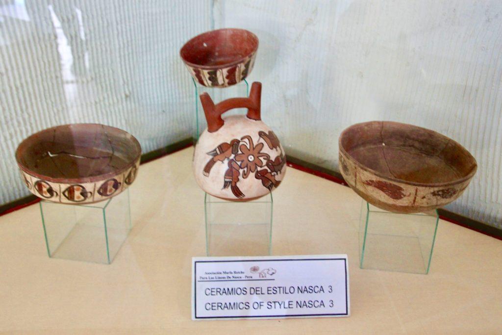 出土した土器の展示