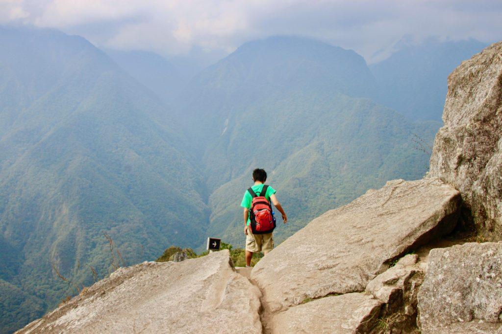 ワイナピチュ山頂付近の眺め