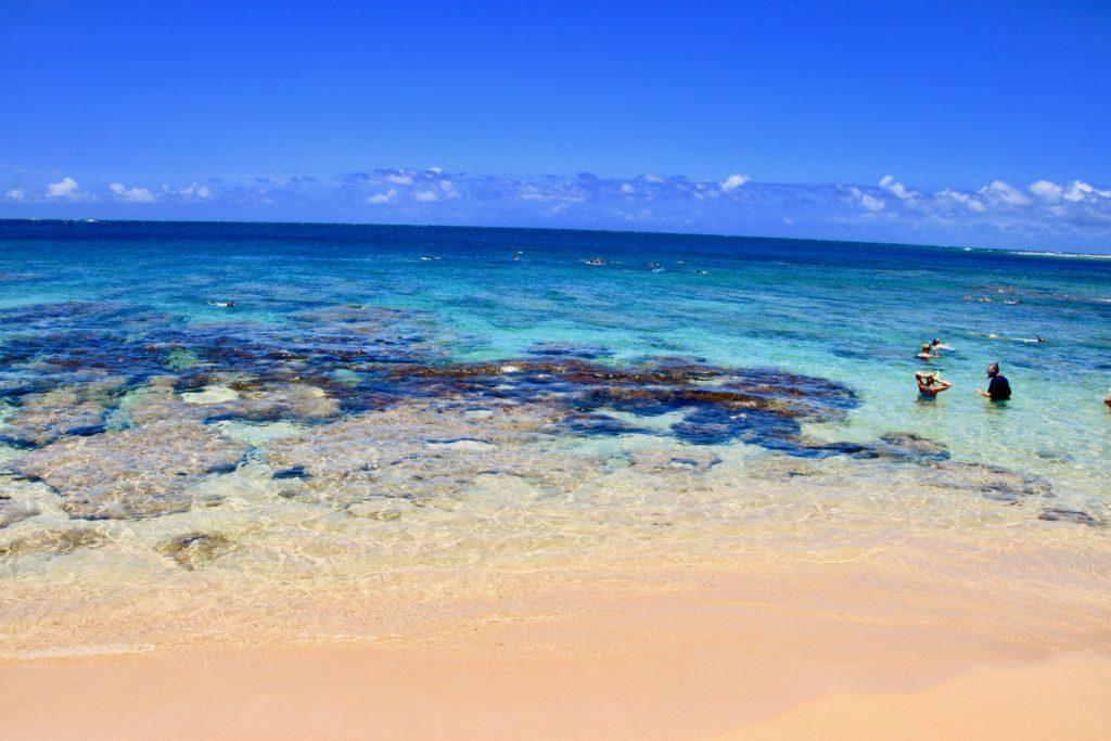 トンネルビーチのサンゴ礁