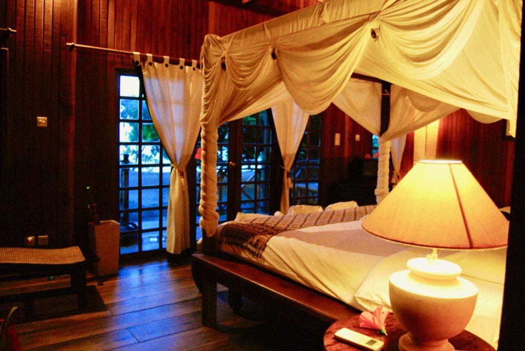 ビーチフロントヴィラの寝室