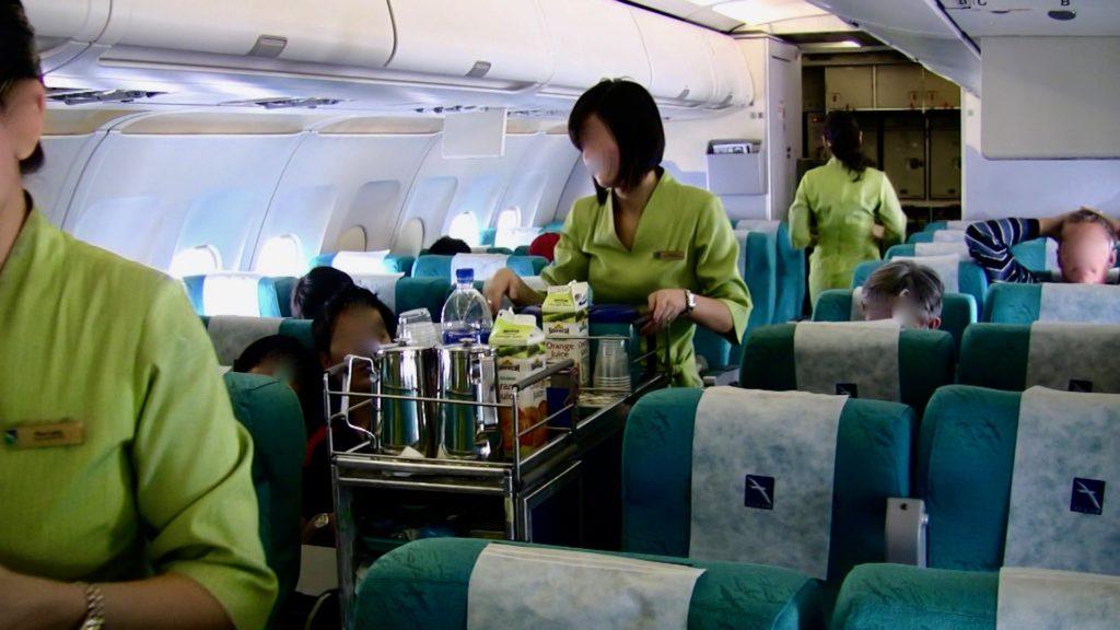 シルクエアーの機内サービス