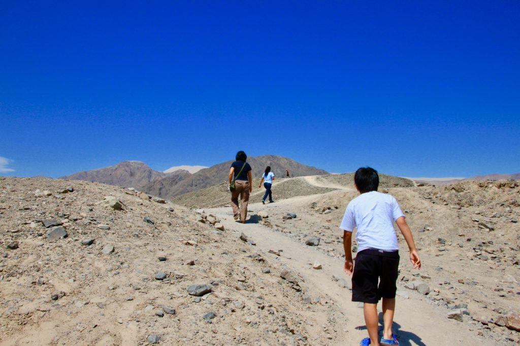 エルテラール遺跡が見渡せる丘を登る