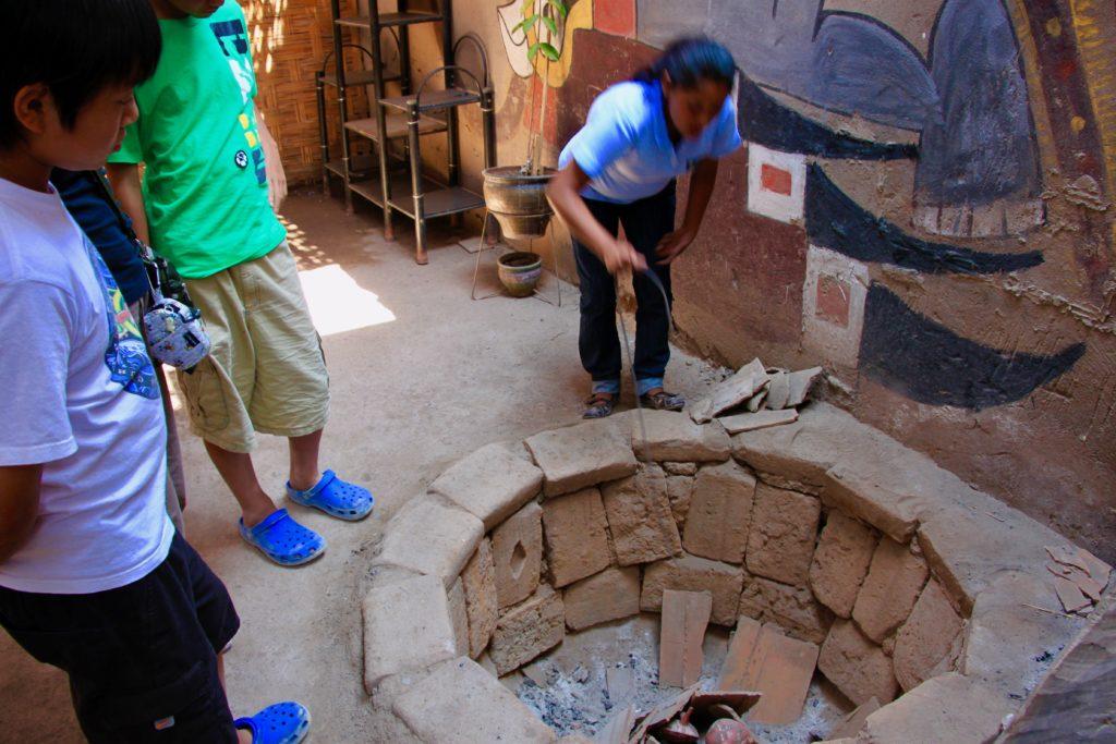 陶器を焼く釜
