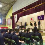 中学校の卒業式