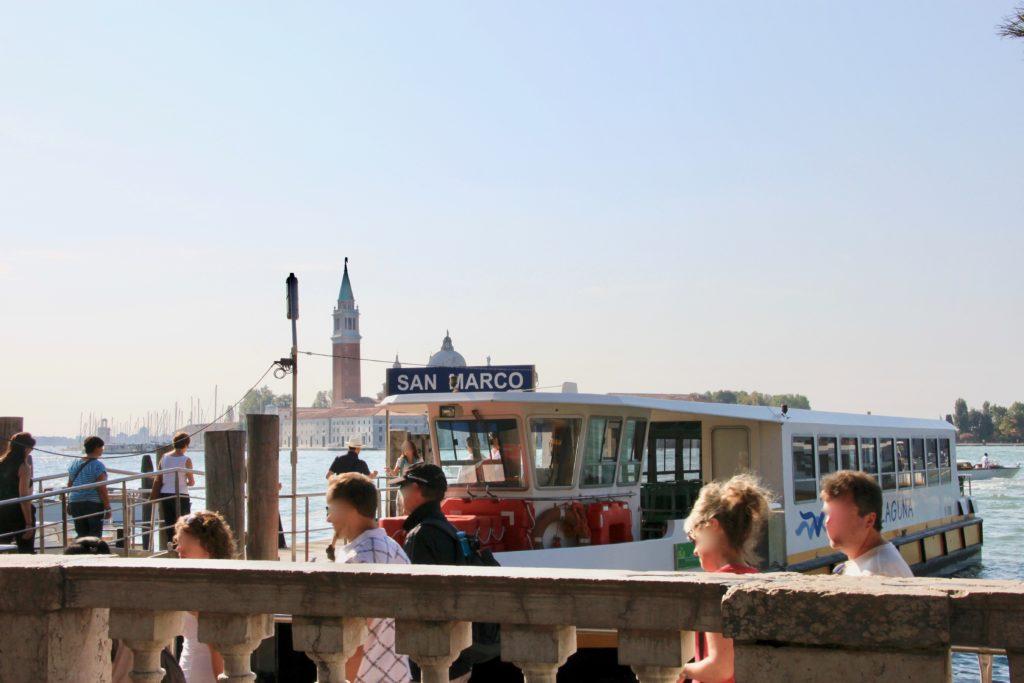 サンマルコ広場の空港行き水上バス乗り場