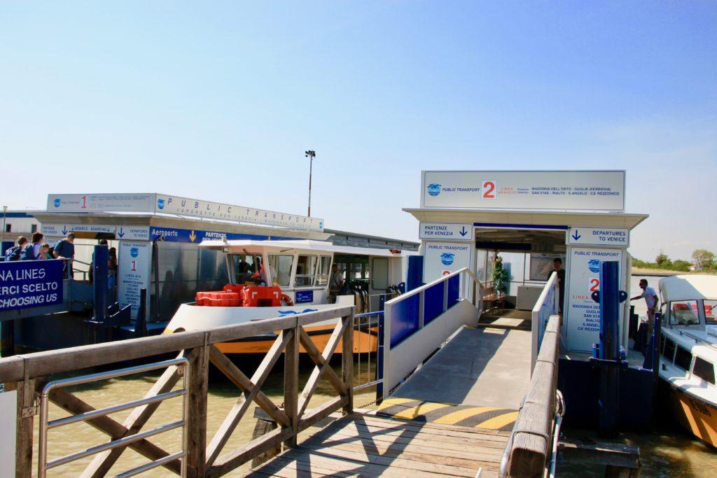マルコポーロ空港の水上バス乗り場
