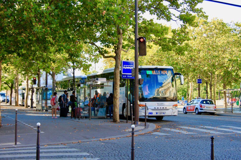エアポートバスのバス停