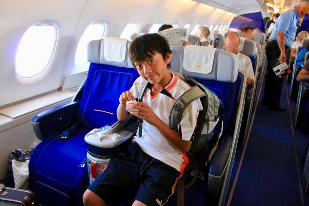 ルフトハンザ航空ビジネスクラスのシート