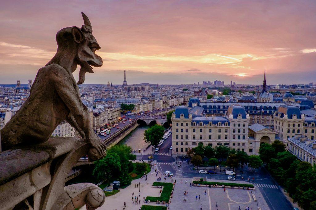 キマイラの回廊から眺めるパリの街