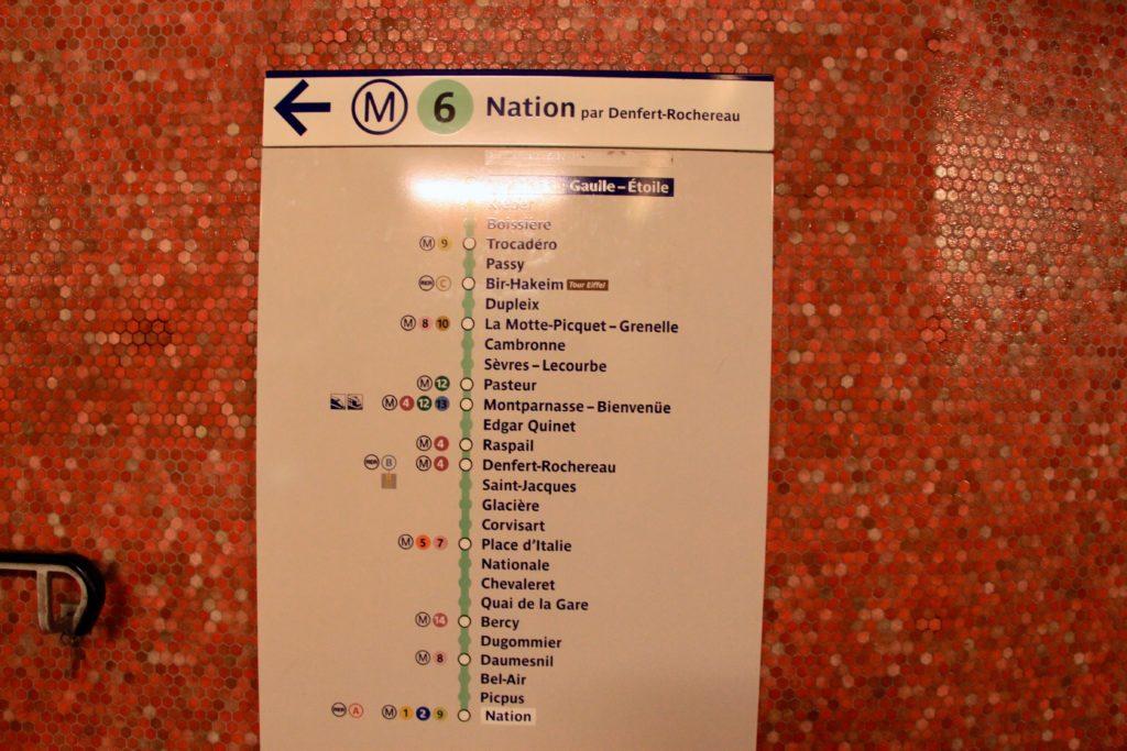 6号線の路線図
