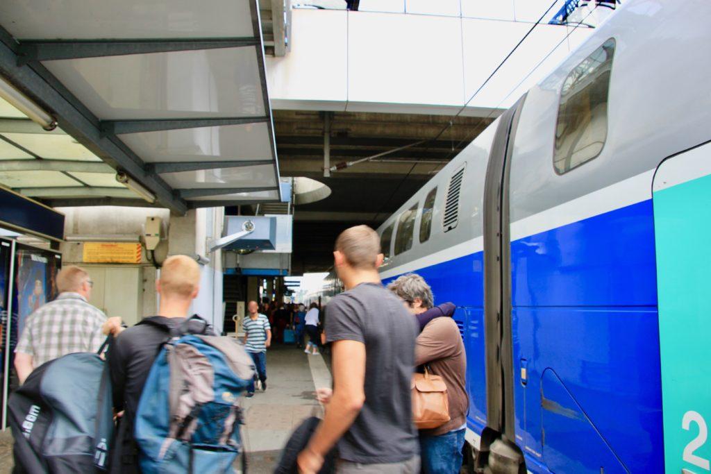レンヌ駅に到着しました