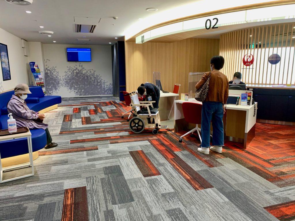 日本航空のサービスカウンター