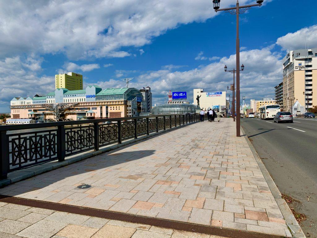幣舞橋の歩道
