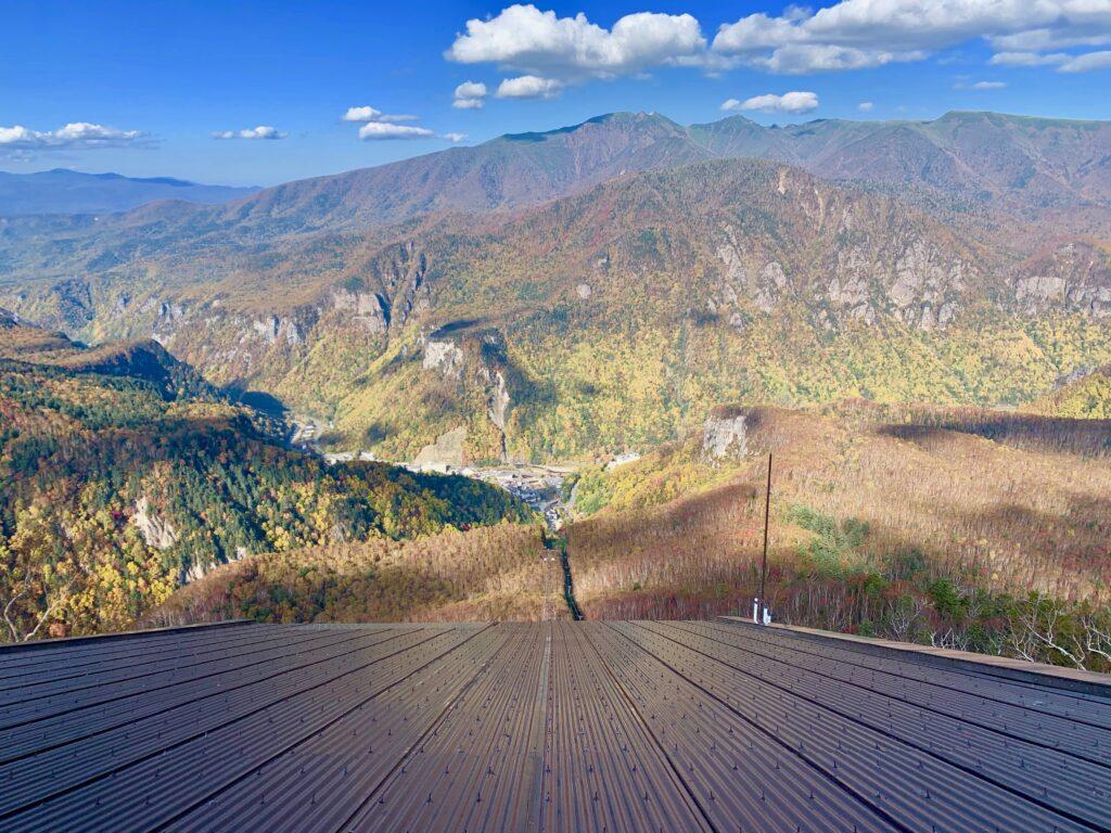 黒岳駅の屋上にある展望台からの眺め