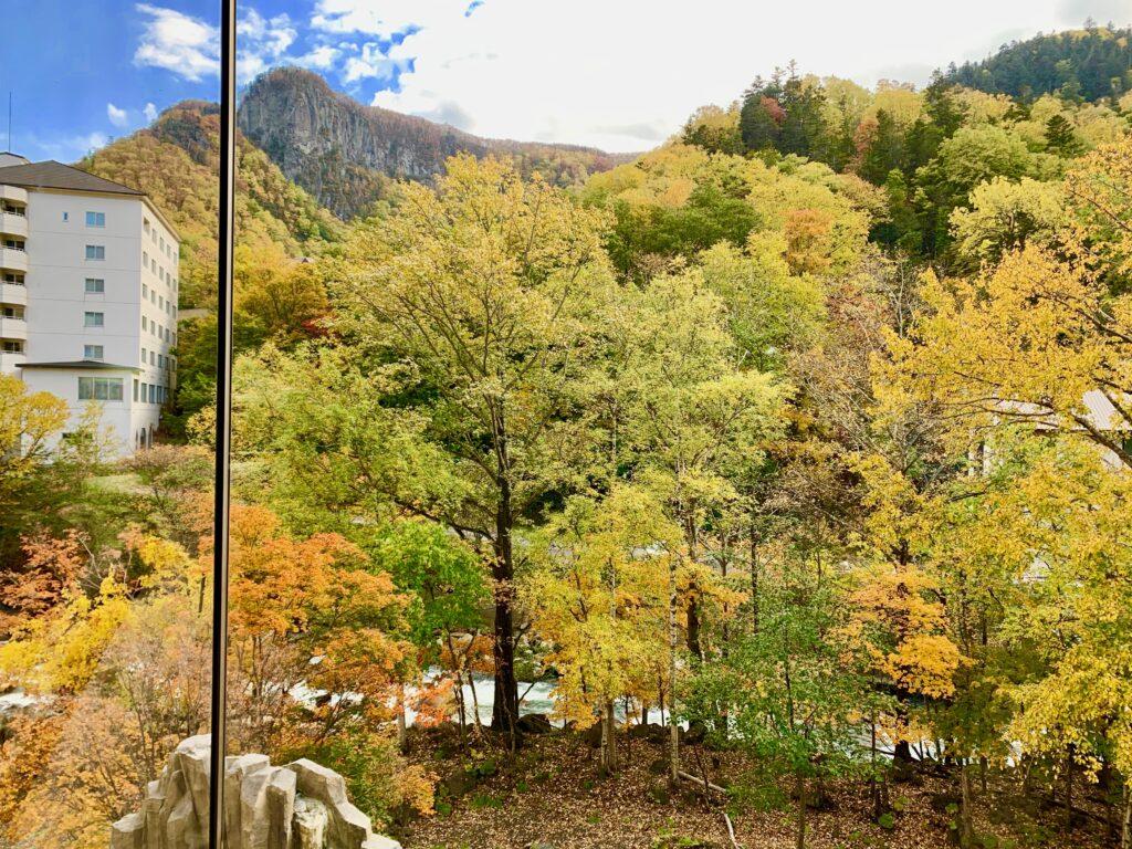 ロビーから見える黒岳