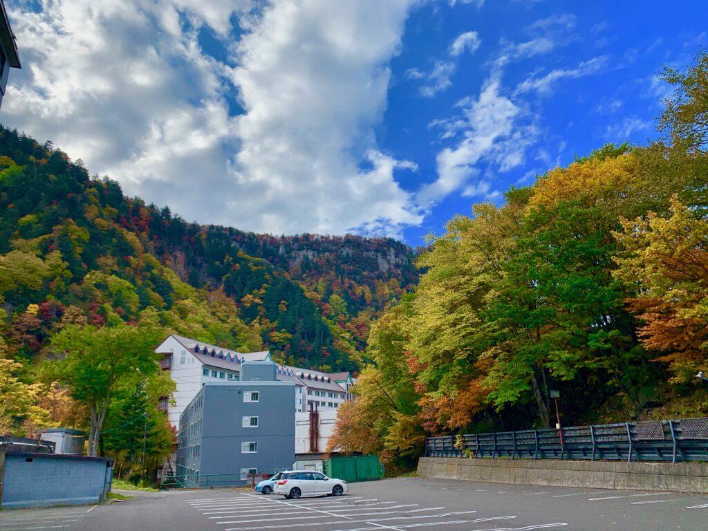 層雲峡観光ホテルの駐車場