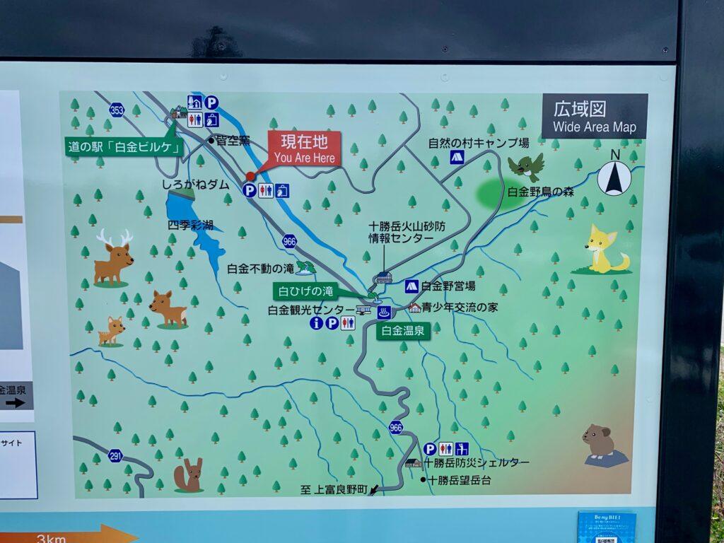 白金温泉の広域地図