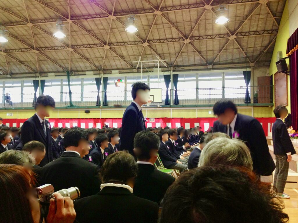 中学校の入学式