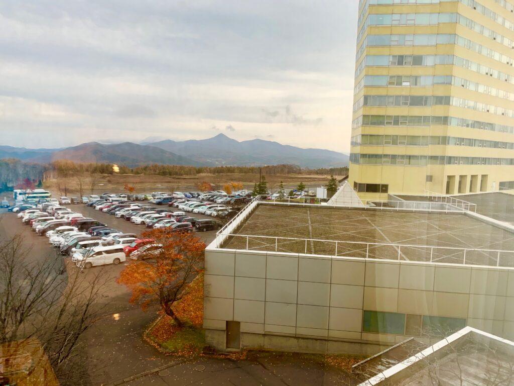 客室から見た安比高原の眺め