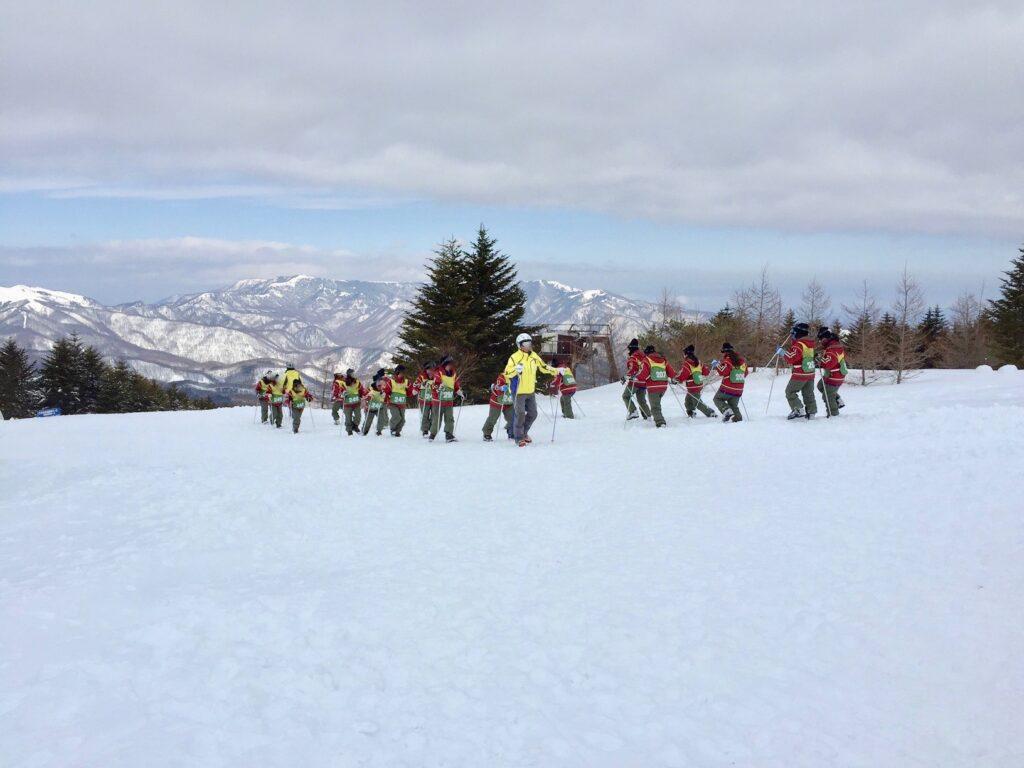 雪上歩行トレーニング