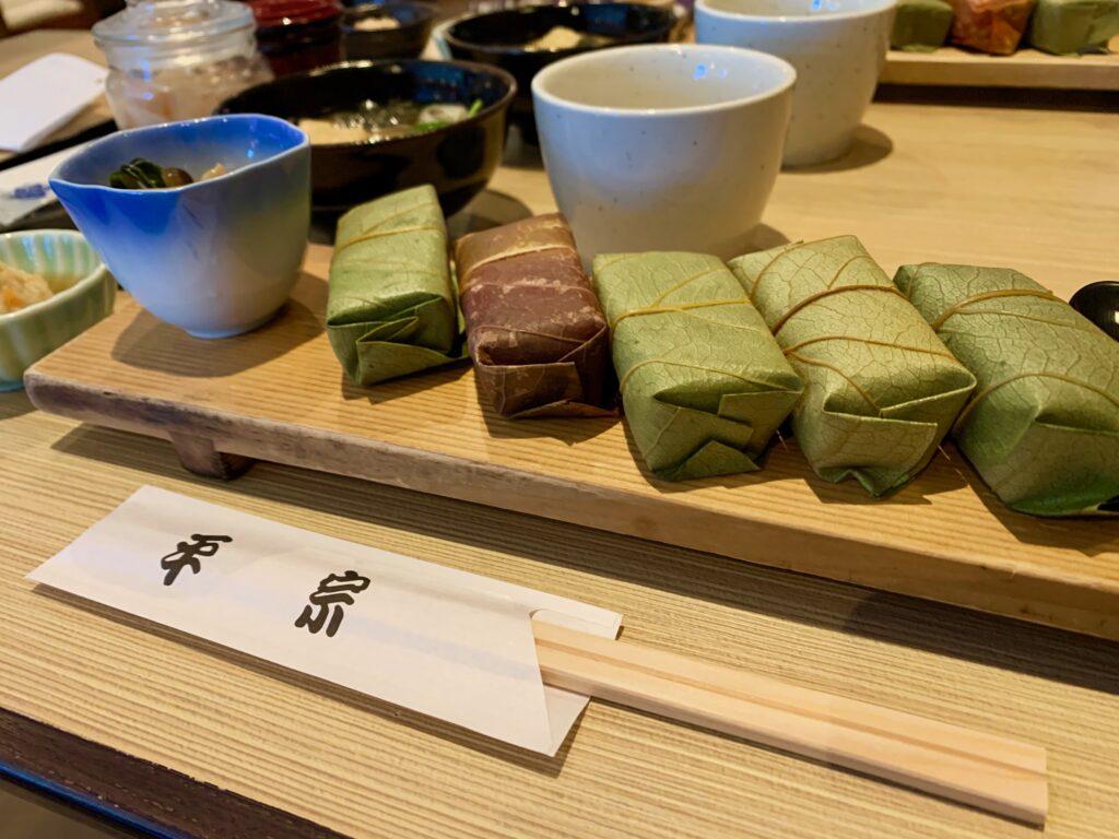 平旨の柿の葉寿司