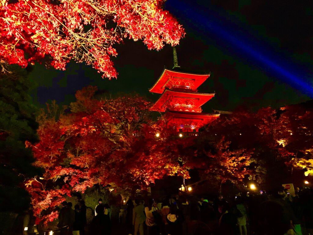 五重塔の紅葉