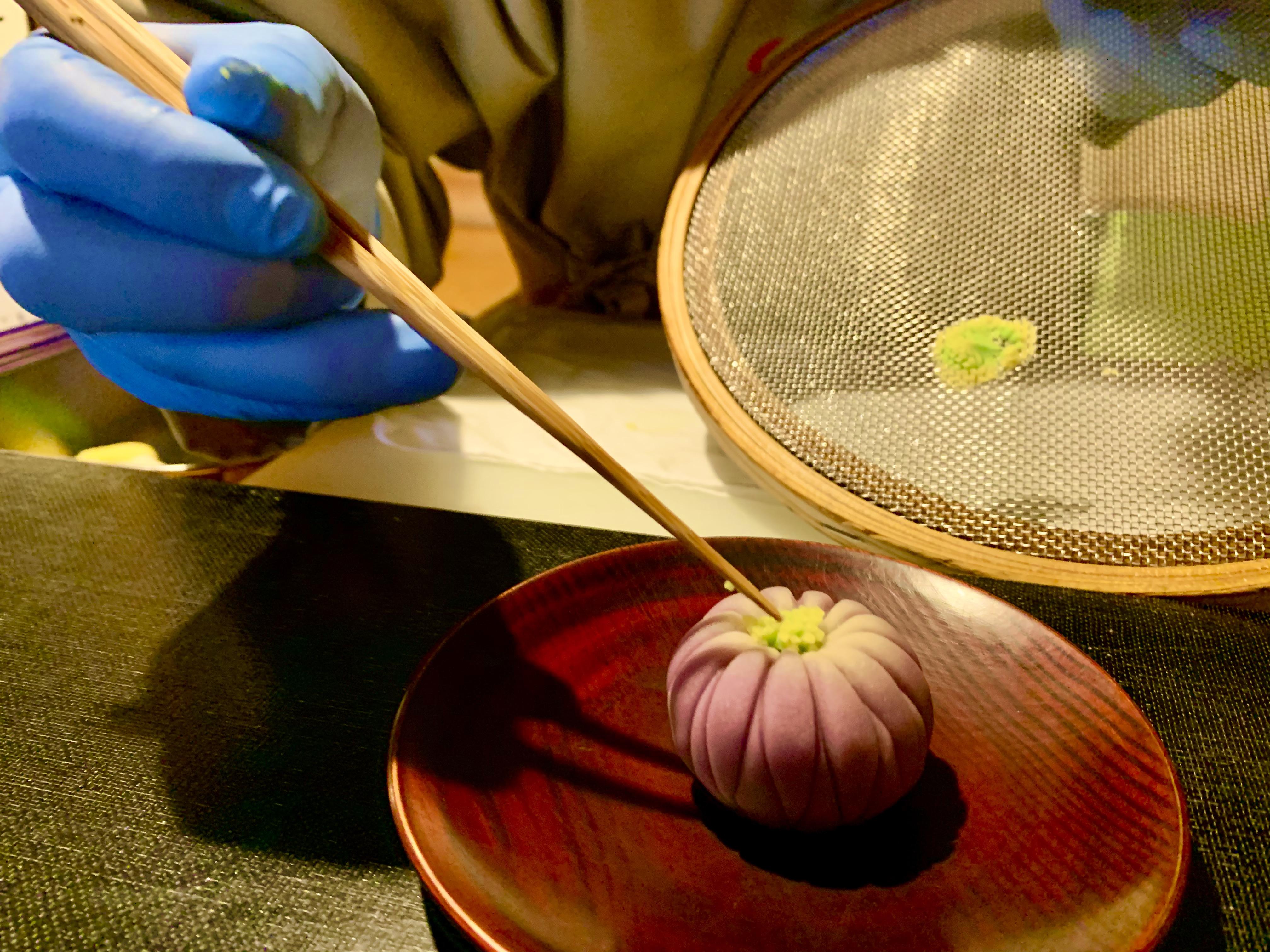 京菓子作り実演