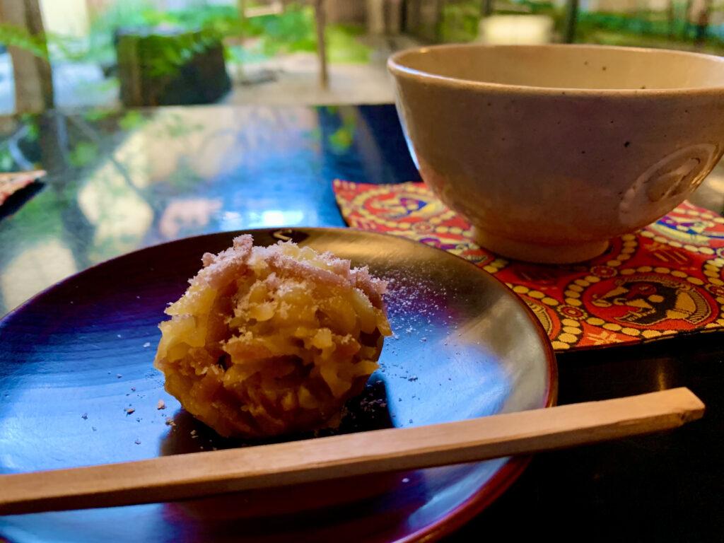 抹茶と作りたての京菓子