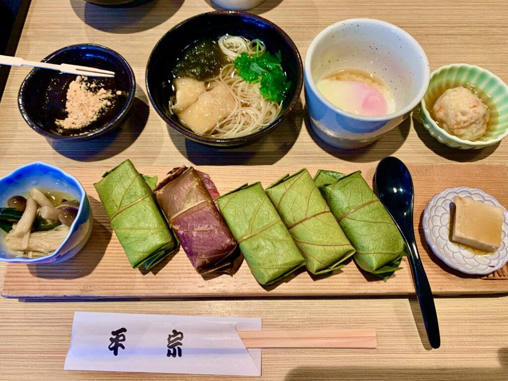 平宗の柿の葉寿司ランチセット